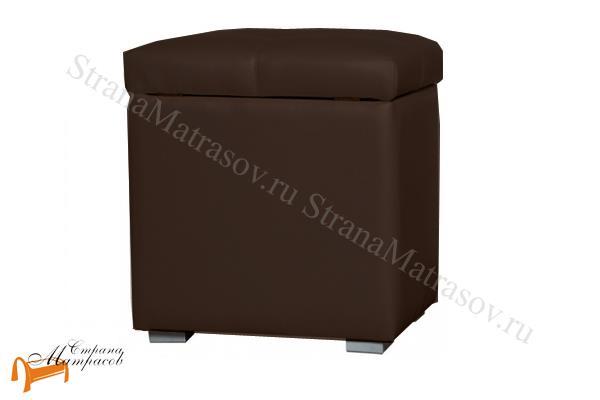 Аскона  Банкетка Квадро 1 с ящиком (пуф) , тумба, тумбочка, экокожа