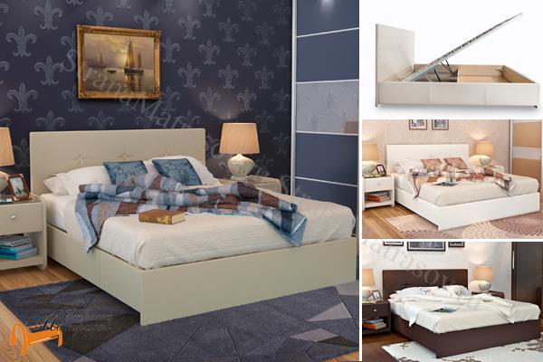Аскона -  Аскона Кровать двуспальная Maya с подъемным механизмом