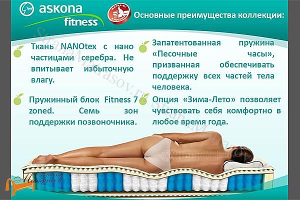 Аскона Ортопедический матрас Fitness Arena