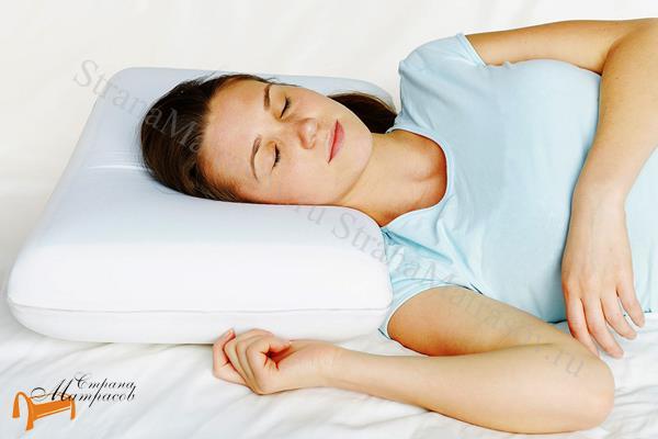 Аскона Подушка Sleep Professor Love L 40 х 60 см , анатомическая подушка,  из материала Cure Feel, высокоэластичная пена, с охлаждающим эффектом