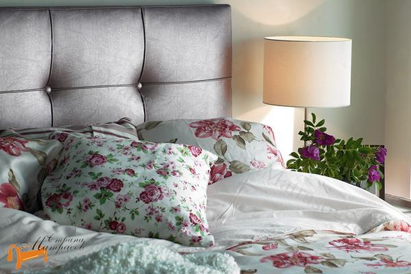 Аскона Кровать двуспальная Sandra с подъемным механизмом , экокожа, кровать Сандра, белая, черная, кремовая, коричневая, красная, серая, золотая
