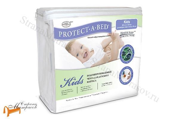 Аскона Наматрасник Влагонепроницаемый чехол для матраса PROTECT-A-BED Kids (наматрасник) , водоотталкивающий, водонепроницаемый, детский