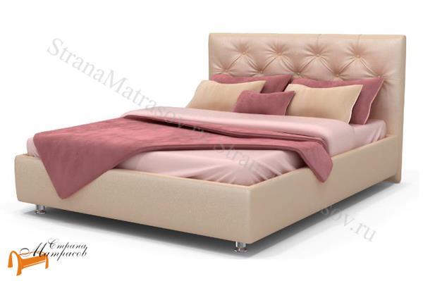 Аскона Кровать двуспальная Monica , экокожа, кровать фенди, кровать Fendi, Monica, моника