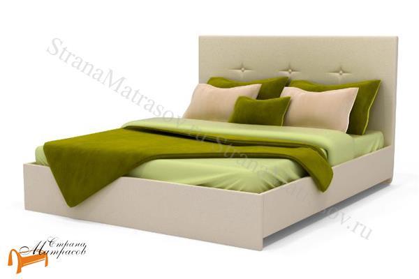 Аскона Кровать Isabella , экокожа, кровать изабелла, кровать Maya Аскона, кровать Мая Аскона, зеленая