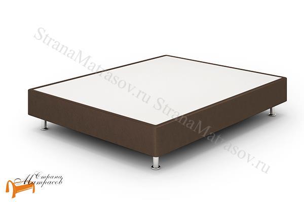 Lonax Кровать Box Standart с основанием , березовая фанера, экокожа, коричневый, белый, черный, бежевый