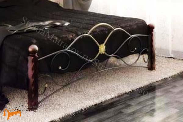 Райтон Кровать Garda 3 с основанием , дерево гевеи, металл