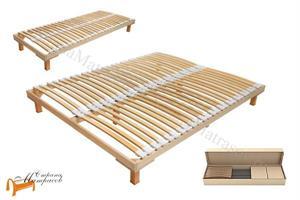 Орматек - Основание для кровати березовое с опорами Мультиламель