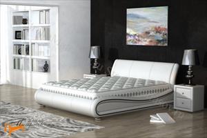 Орматек - Кровать двуспальная Clip из натуральной кожи