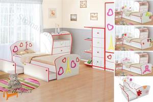 Орматек - Кровать Соната Kids Плюс (для девочек) с ящиками и с основанием