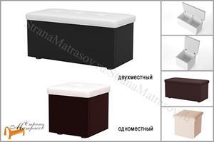 Орматек -  Пуф Como/Veda (экокожа и ЛДСП) с ящиком
