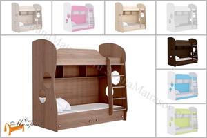 Орматек - Кровать Соната Junior двухъярусная (с основанием и ящиками)