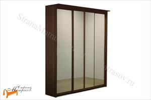Орматек - Шкаф 4-х дверный - купе Эконом (глубина 600мм) с 4 зеркалами
