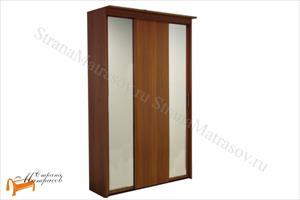 Орматек - Шкаф 3-х дверный - купе Эконом (глубина 450мм) с 2 зеркалами