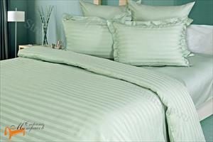 Орматек -  Комплект постельного белья Страйп - сатин Wild Mint