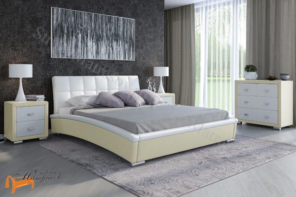 Орматек Кровать двуспальная Corso 1 , экокожа, корсо 1, корса 1, золото, золотая, Экокожа, Sprinter Gold, золотой блеск, жемчуг, белая, черная, кремовая, коричневая, олива