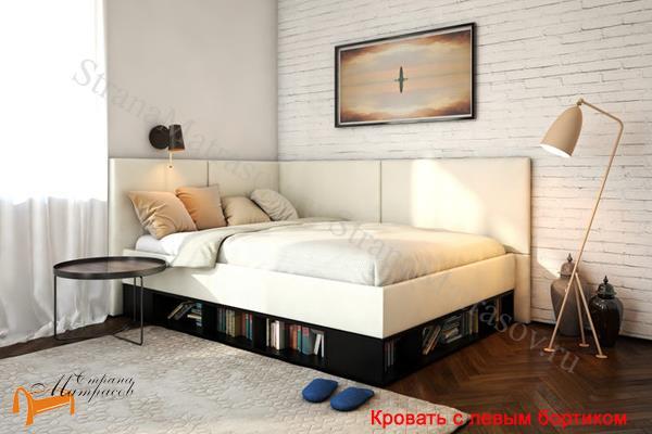 Орматек Кровать Lancaster 1 - тахта с подъемным механизмом , угловая кровать, экокожа, лдсп, ткань, ящик, бортик