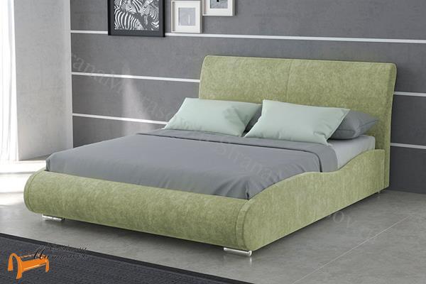 Орматек  Corso 8 Lite , кровать Корсо, экокожа, ткань, велюр, лен, кремовый, белый, черный, коричневый, рыжий, зеленый, красный, олива, ваниль, бежевый