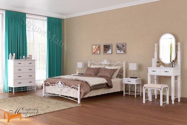 Орматек Кровать Garda 2R с основанием , металл, гарда, дерево гевеи, белая, венги, коричневая, орех