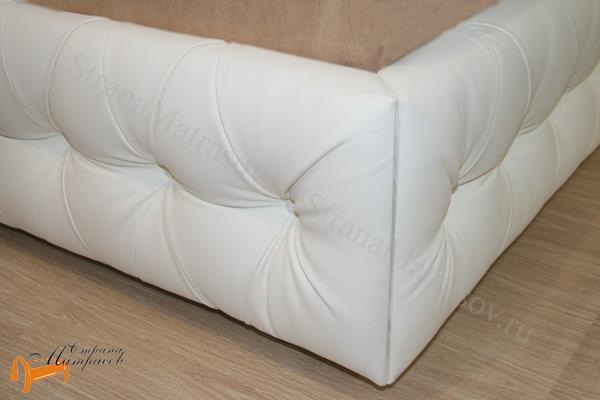 Орматек Кровать Como 6 с подъемным механизмом , экокожа, цвет белый