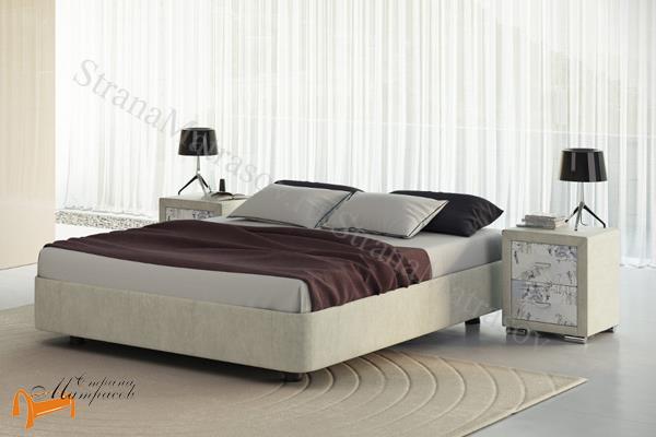 Орматек Кровать Rocky Base с основанием , подиум, экокожа, ткань, велюр, рогожка, черная, белая, коричневая, кремовая, бежевая
