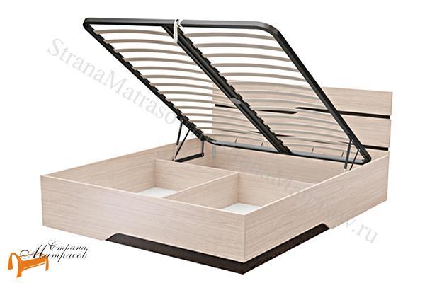 Орматек  Wave line с подъемным механизмом  , кровать орматек, ЛДСП , дуб шамони, дуб венге, кровать с ящиком