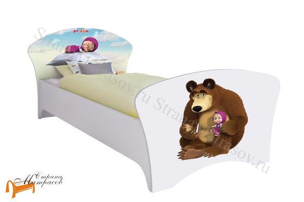 Орматек - детская кровать Орматек Маша и Медведь (для девочек) с основанием