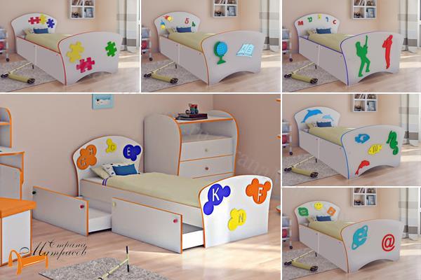 Орматек -  Соната Kids Плюс (для мальчиков и девочек) c ящиками и с основанием
