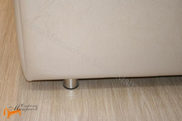 Орматек Кровать Veda 1 Base с основанием , экокожа, без изголовья, цвет бежевый, цвет кремовый