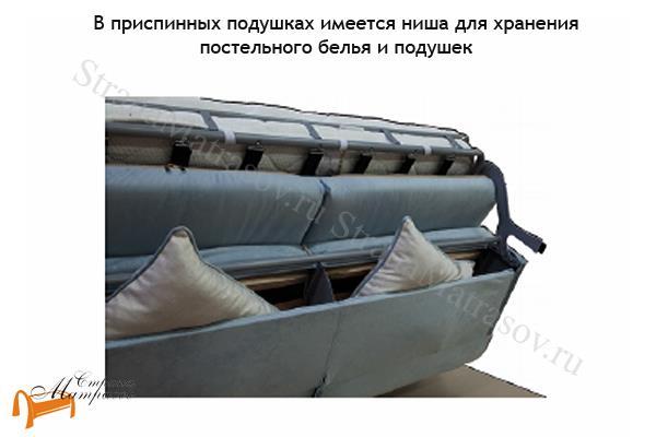 Орматек Диван Synergy Compact (с ортопедическим матрасом) , диван, кровать, с ящиком, мягкая мебель, пружинный блок, беспружинный блок, велюр, раскладывается, тип раскладушка, зеленый, белый,