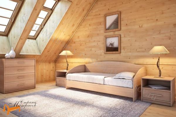 Орматек Детская кровать (подростковая) Этюд Софа с основанием , лдсп, дсп