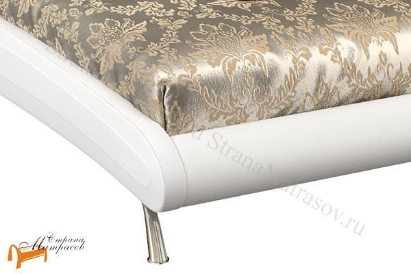 Орматек  двуспальная Corso 2 , экокожа,  белый, кровать Корсо