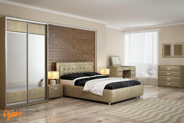 Орматек Кровать Como 2 с подъемным механизмом , экокожа, ткань, рогожка, велюр, золото, олива, белый, чёрный, кремовый, бежевый, коричневый, зеленый, красный, ящик, стразы