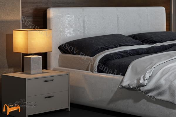 Орматек Кровать Como 3 с подъемным механизмом , экокожа, цвет крокодил