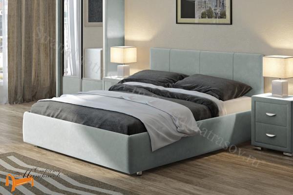 Орматек Кровать Veda 3 с основанием , экокожа, ткань, рогожка, велюр, золото, олива, белый, чёрный, кремовый, бежевый, коричневый, зеленый, красный,