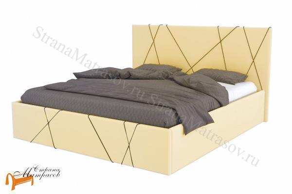 Райтон Кровать Roza , роза, экокожа, велюр, белый, золотой, черный, серый, коричневый, бежевый