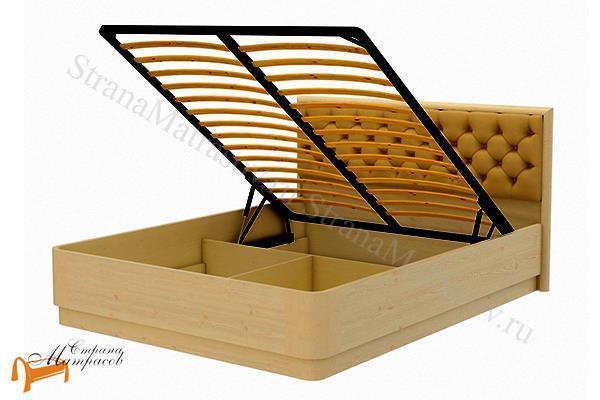 Орматек Кровать Wood Home 3 с подъемным механизмом , ящик, натуральное дерево, классика, карельская сосна, Орех, венге, красно-коричневый, слоновая кость, белая эмаль, антик