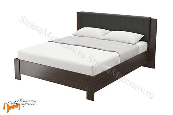 Орматек Кровать Soft 1 , кровать орматек, ЛДСП , ясень шимо, экокожа беллая, венге, кровать без основания