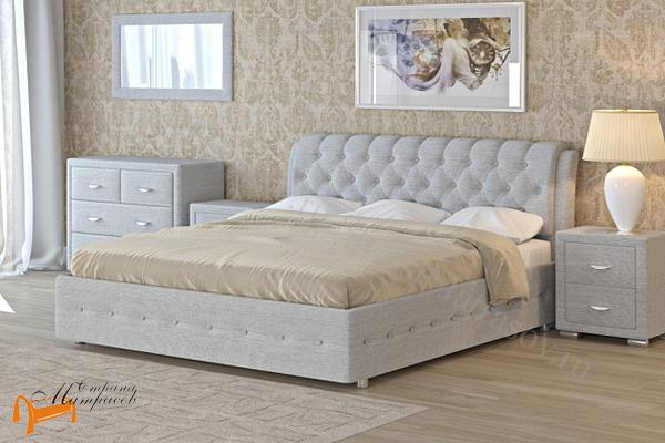Орматек Кровать Veda 4 с основанием , экокожа, ткань, рогожка, велюр, золото, олива, белый, чёрный, кремовый, бежевый, коричневый, зеленый, красный, веда