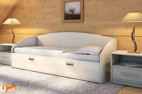 Орматек Кровать Этюд Софа Плюс с основанием и ящиком , лдсп, дсп, бавари, венги, шамони, гварнери, орех