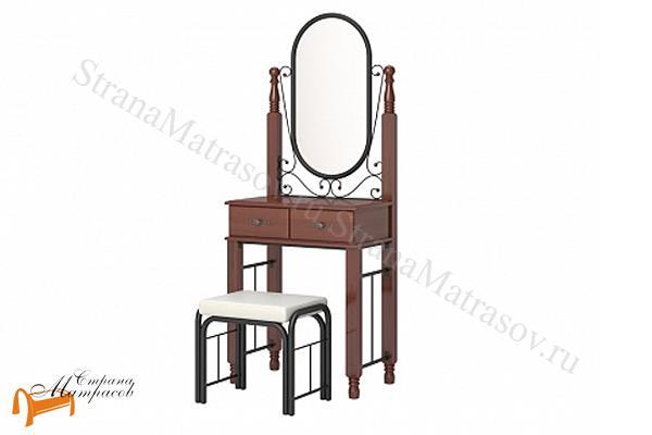 Орматек  с банкеткой Garda 2R , зеркало, дерево гевеи, стул, белый, орех, венги