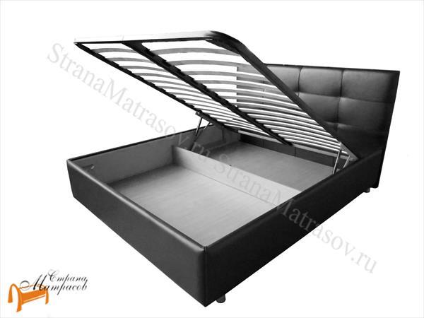 Райтон Кровать Life Box 1 с подъемным механизмом , лайв бокс 1, каркас, коркас, подъёмный механизм, подъемный механизм, экокожа, люкс, черная, черный, чёрная, чёрный
