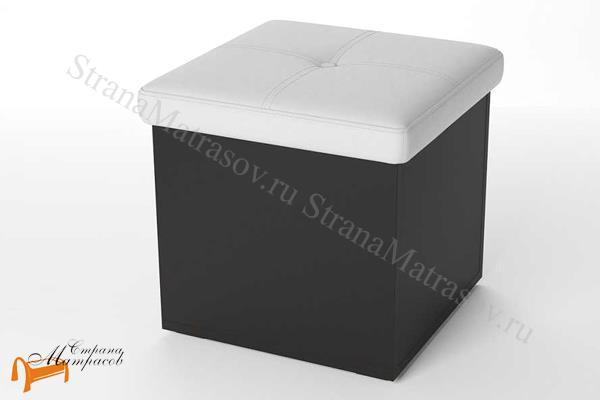 Орматек  Пуф Como/Veda одноместный (экокожа и ЛДСП) с ящиком , экокожа, ящик, ткань, рогожка, велюр, белый, черный, кремовый, бежевый, коричневый, золотой, жемчуг, крокодил,