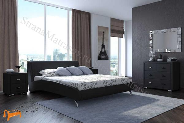 Орматек  двуспальная Corso 2 , экокожа, черный,
