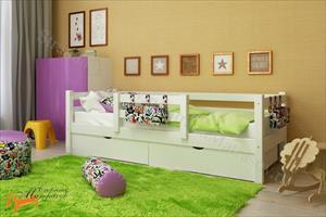 Райтон - Детская кровать Отто 4 с центральным бортиком и основанием