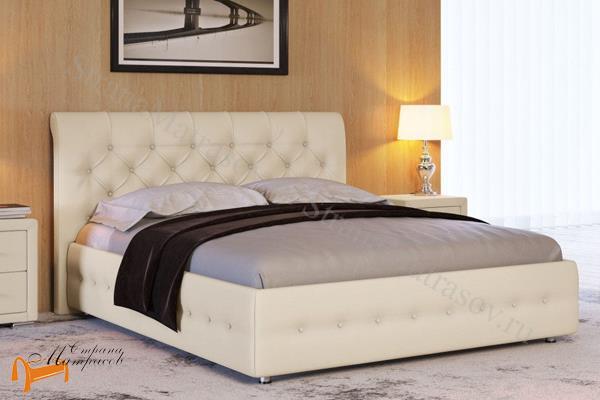 Райтон Кровать Life 4 с основанием , экокожа, кровать лайф, черный,    бежевый,  коричневый, белый, Caiman Croco, Sprinter Pearl, Sprinter Gold, золотой, жемчуг, серый, кремовый,ткань, рогожка