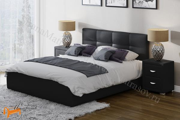 Райтон Кровать Life 1 с основанием , экокожа, лен, велюр, черный, бежевый, коричневый, белый, Caiman Croco, Sprinter Pearl, Sprinter Gold