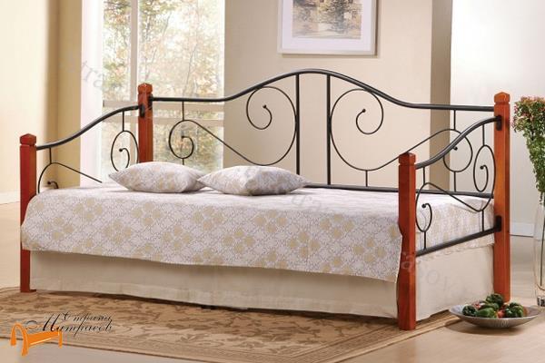 Орматек Кровать Garda 7R - софа с основанием , дерево гевеи, металл