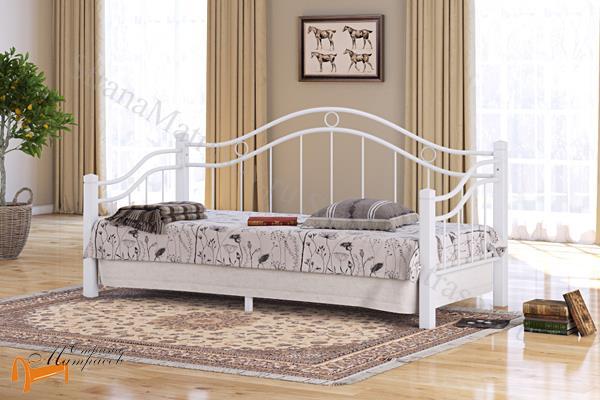 Райтон Кровать Garda 8R - софа с основанием , металл, гарда, дерево гевеи