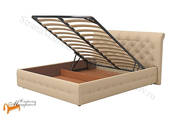 Райтон Кровать Life Box 4 с подъемным механизмом , экокожа, кровать лайф бокс, черный,    бежевый,  коричневый, белый, Caiman Croco, Sprinter Pearl, Sprinter Gold, золотой, жемчуг, серый, кремовый,ткань, рогожка