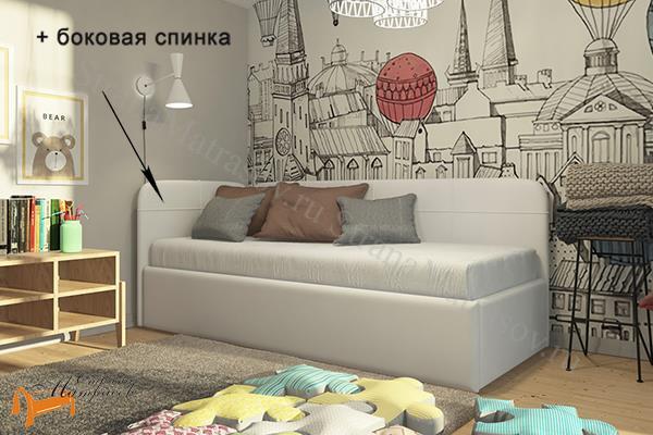 Райтон Кровать Life Junior софа , джуниор, лайф, белый, коричневый, черный, бежевый, ткань, экокожа